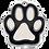 Thumbnail: Enamel Paw Black/White