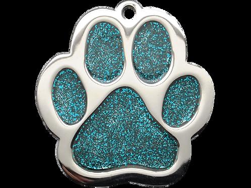 Glitter Enamel Paw - P.blue