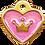Thumbnail: IP Gold Light Purple Glita C + Heart (S)