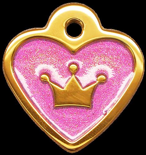 IP Gold Light Purple Glita C + Heart (S)