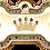 Thumbnail: IP Gold Blue Crown Bone (L)
