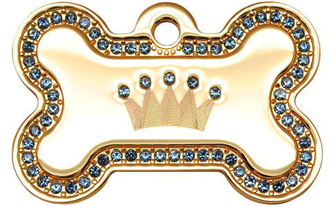 IP Gold Blue Crown Bone (L)
