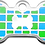 Thumbnail: Checker Bone Blue & Green