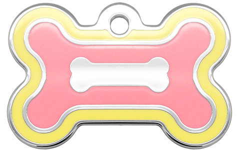 Double Frames Bone Yellow & Pink