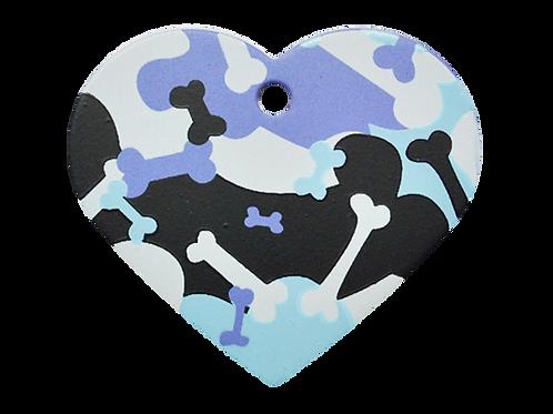Camouflage Print Heart PP/BK