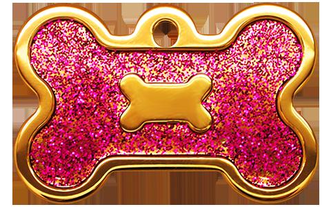 IP Gold Fushia Glita Bone