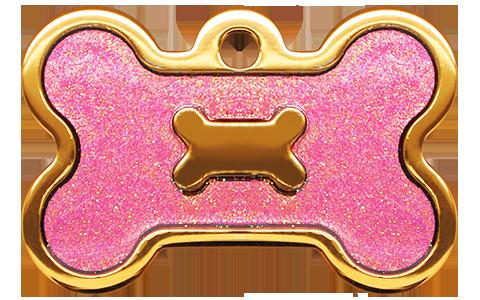IP Gold Light Purple Glita Bone