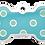 Thumbnail: Polka Dots Grind Enamel Bone Blue & Green