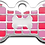Thumbnail: Checker Bone Red & Pink