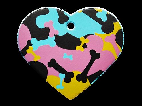 Camouflage Print Heart BL/PK