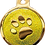 Thumbnail: IP Gold Neon Yellow Glita Circle Paw