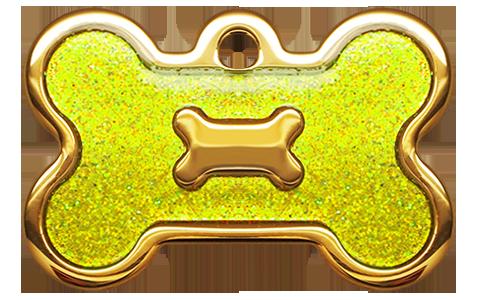 IP Gold Neon Yellow Glita Bone
