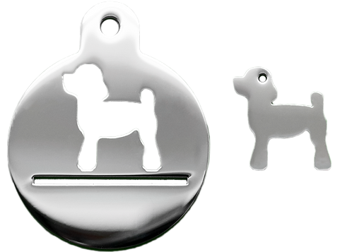 Poodle Set With Necklace