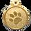 Thumbnail: IP Gold Light Green Glita Circle Paw
