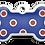 Thumbnail: Polka Dots Grind Enamel Bone Blue & Red