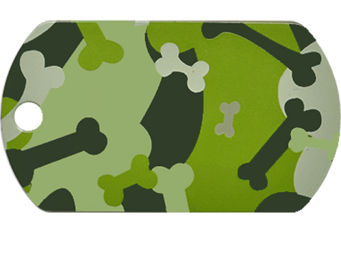 Camouflage Print Military Tag GY/GN (L)