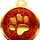 Thumbnail: IP Gold Red Glita Circle Paw (L)