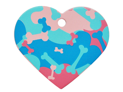 Camouflage Print Heart RD/BL