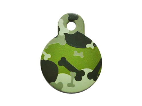 Camouflage Print Circle GY/GN