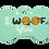 "Thumbnail: Dog Couple + "" I WOOF You "" slogan Bone Green"