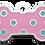 Thumbnail: Polka Dots Grind Enamel Bone Pink & Light Blue