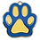 Thumbnail: Enamel Paw Blue/Yellow