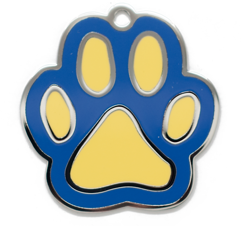 Enamel Paw Blue/Yellow