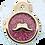 Thumbnail: Mustache Glitter Enamel Circle PINK