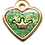 Thumbnail: IP Gold Dark Green Glita C + Heart (S)