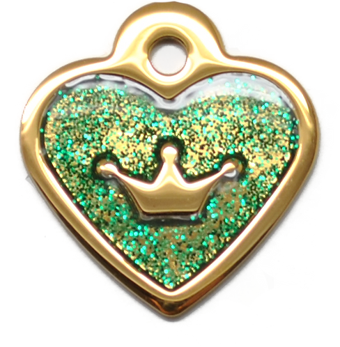 IP Gold Dark Green Glita C + Heart (S)