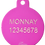 """Thumbnail: Loudspeaker + """" WOOF!! """" slogan Circle Pink"""