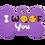 "Thumbnail: Dog Couple + "" I WOOF You "" slogan Bone Purple"