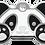 Thumbnail: Panda Grind Enamel Bone Tag