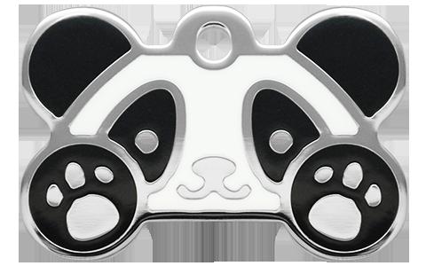 Panda Grind Enamel Bone Tag