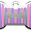 Thumbnail: Stripes Bone Pink & Purple