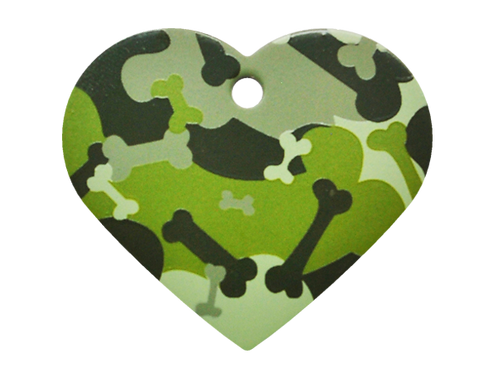 Camouflage Print Heart GY/GN