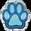 Thumbnail: Enamel Paw Blue/Lt Blue