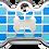 Thumbnail: Checker Bone Blue & Light Blue