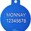 "Thumbnail: Loudspeaker + "" WOOF!! "" slogan Circle Blue"
