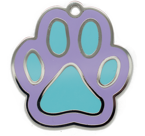 Enamel Paw Purple/Blue