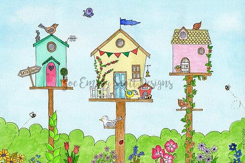`Tweet Row' Birdhouses