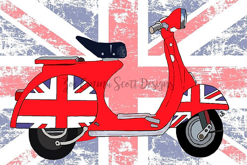 Made in Britain! Mod Vespa Scooter