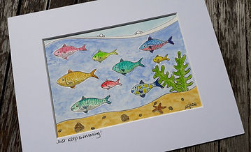 Zoe Emma Scott Art Just Keep Swimming