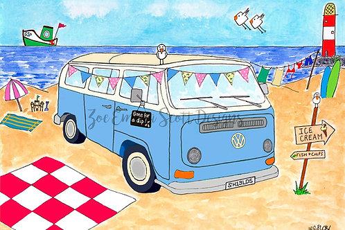 Happy Camper!  VW Campervan