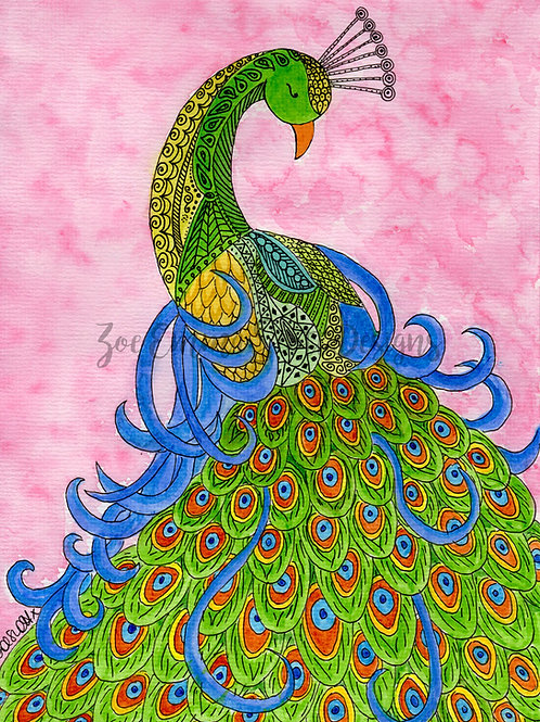 Peacock in Blossom