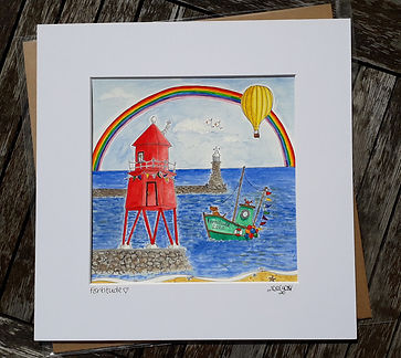 Zoe Emma Scott Artwork Groyne Lighthouse South Shields