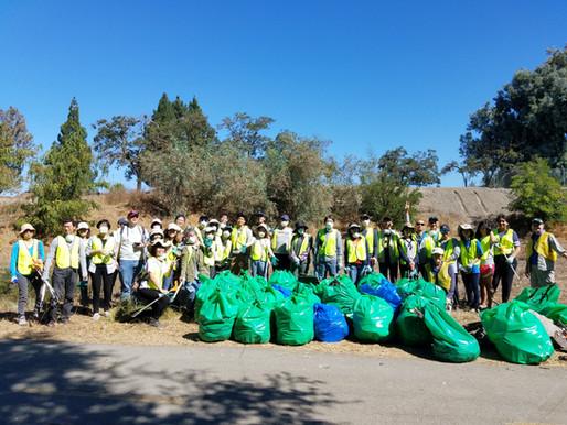 140 Bags of Trash at Coyote Creek
