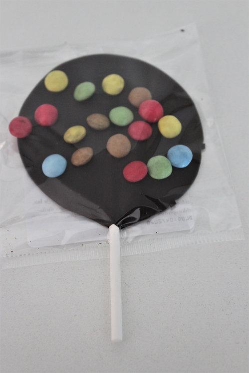 Sucette crousti choc au chocolat noir