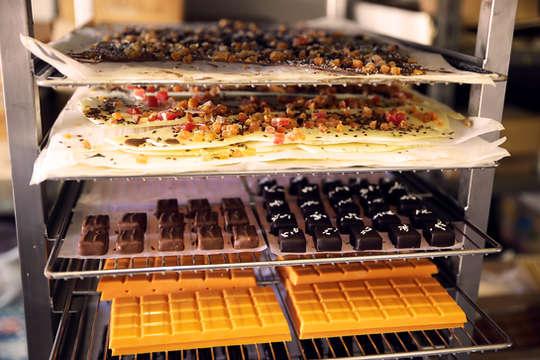 Echelle avec des chocolats