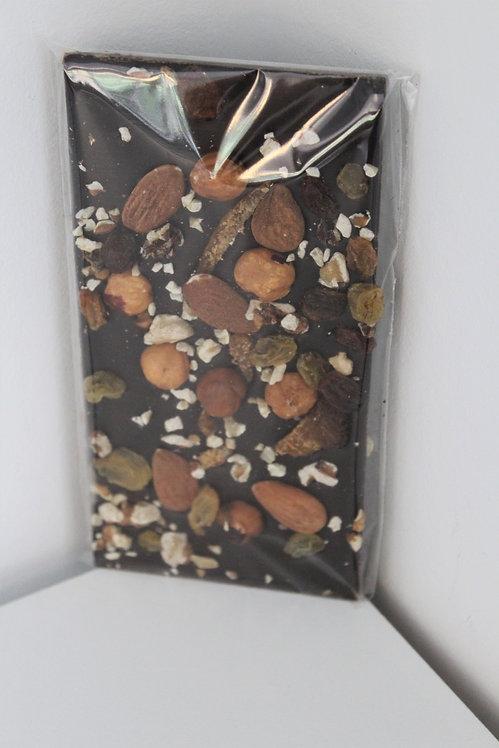 Tablette de Chocolat Noir aux Fruits Secs